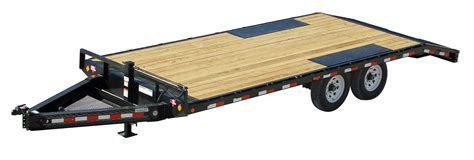flat bed trailers pj trailers flatbed utility equipment gooseneck and bumper