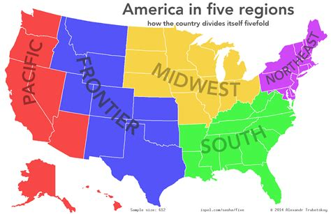 us map divided south east west were asked to divide the united states into exactly