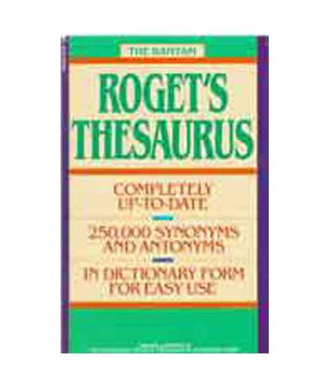 thesaurus confirmation the bantam roget s thesaurus buy the bantam roget s