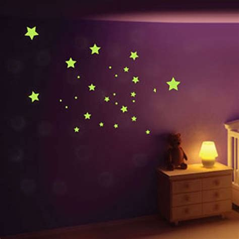 glow in the dark wall murals glow in the dark star mix wall stickers glow in the dark