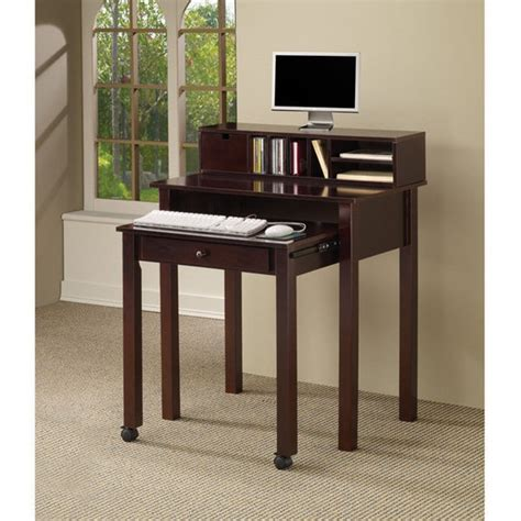 coaster 5 pc phoenix rich deep espresso wood finish small useful unconventional desks desks and pc desk