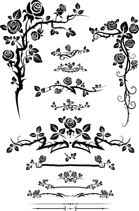Kalung Mawar Enchanted Endless And The Beast Necklace flowers silhouette lace 01 vector free vector 4vector