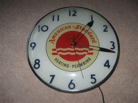 vintage advertising electric wall clock americanstandard