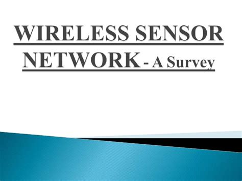 ppt templates for wireless sensor networks wireless sensor network my seminar ppt