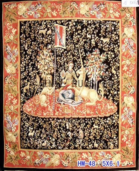 Handmade Tapestries - wool vintage handmade aubusson gobelin 5 x 6 1 tapestries