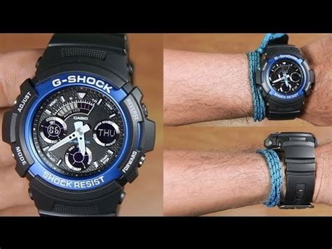 Casio G Shock Aw 591 2a Original casio g shock aw 591 2a analog digital unboxing