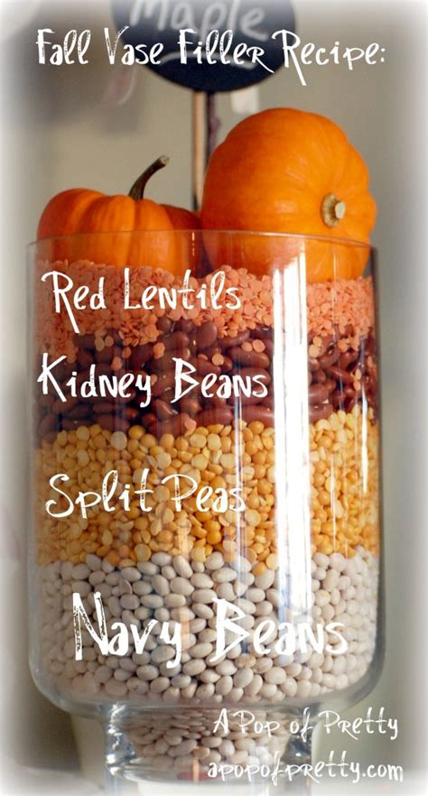 Fall Vase Fillers by Decorate A Fall Mantel With Beans A Pop Of Pretty