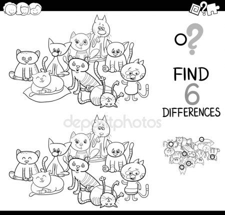 libro spot the difference 2016 p 225 gina para colorear juego de diferencias vector de stock 169 izakowski 125093038