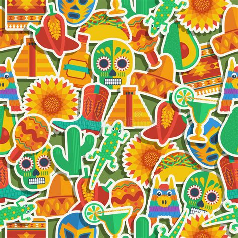 mexican pattern history mexican pattern stock vector illustration of cactus