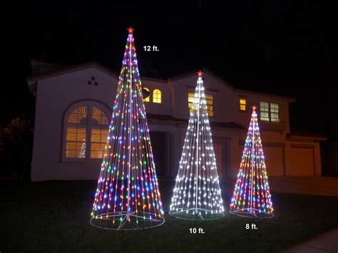 new 144 quot prelit multi color led christmas tree outdoor
