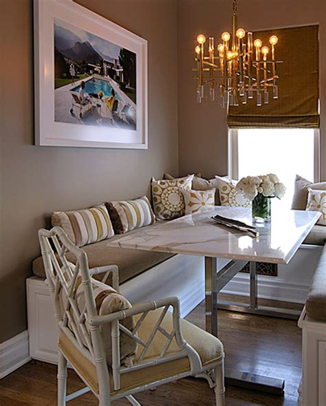 Dining Room Table With Banquette Seating Tabouret Chevre Bench Contemporary Kitchen Benjamin Dhong Benjamin Hazy Skies