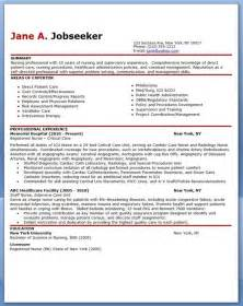 Registered Resume Sle Format by Best 25 Nursing Resume Ideas On