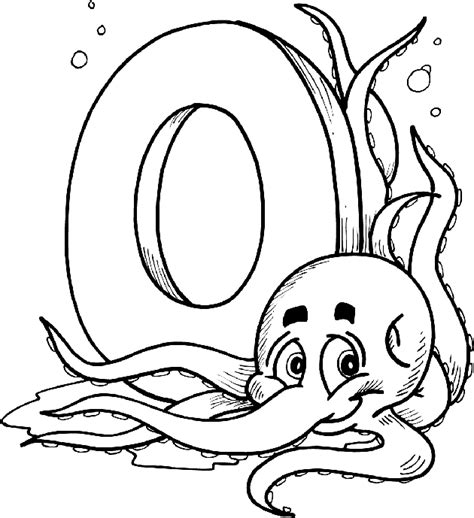 letter o coloring pages free alphabet coloring pages