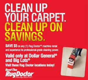 Rug Dr Rental Coupon The Rug Doctor 5 Mail In Rebate Valid At Big Lots And