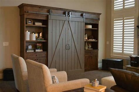 Sliding Doors Over Entertainment Center Furniture Barn Door Media Center