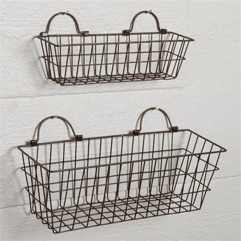 Simple Ideas For Hanging Wire Basket Set Of Small Wire Baskets Sturbridge Yankee Workshop