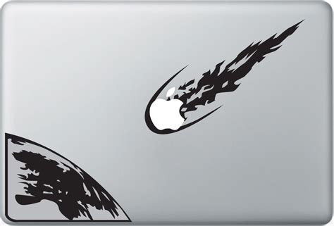 Sticker Apple product asteroid apple macbook decal sticker