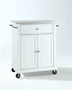 stainless steel kitchen island cart crosley furniture stainless steel top portable kitchen