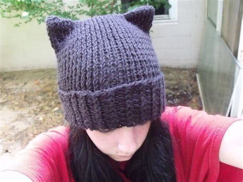 hats for cats knitting patterns knitted cat hat 183 how to make an animal hat 183 knitting on