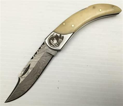 Handmade American Knives - gb355 american eagle damascus steel custom handmade