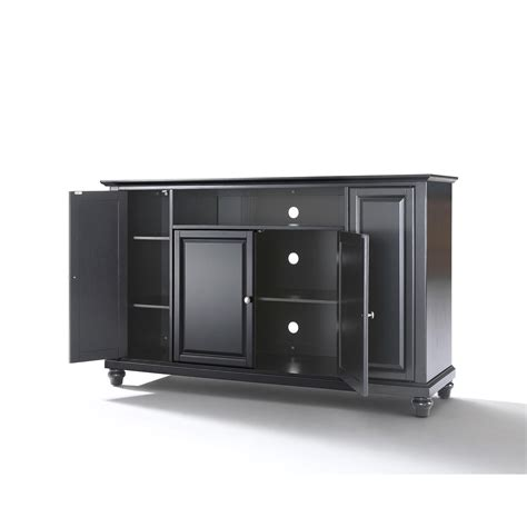 60 Inch Tv Cabinet by Cambridge 60 Inch Tv Stand In Black Finish Crosley