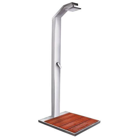 pedane da esterno doccia da esterno per piscina solaris in acciaio con