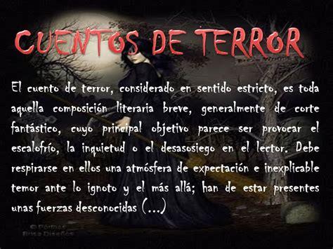 cuentos de cortos de terror espa 209 ol cuentos de terror ppt descargar