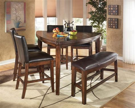dining room ashley larchmont triangle dark wood table ebay