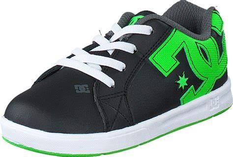 k 246 p dc shoes dc court graffik elastic black green white