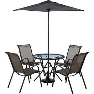 Image for andorra 4 seater metal garden furniture set collect in