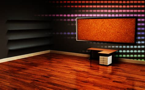 room desk 3d room desktop backgrounds http
