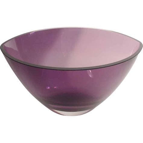 Bowl Vase by Estate Purple Kosta Boda Shape