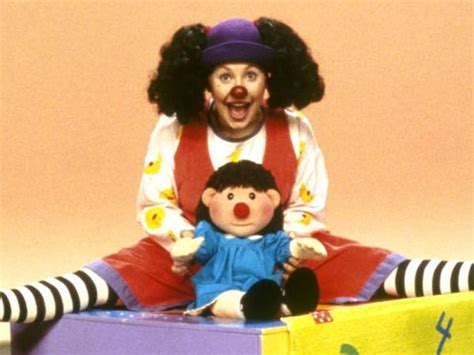 molly on the couch here s what loonette the clown from the big comfy couch