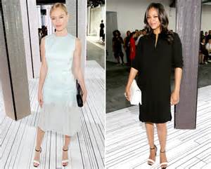 Heat Up Bcbg Front Row by Kate Bosworth Zoe Saldana Sit Front Row At