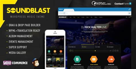 themeforest music soundblast music band wordpress theme by chimpstudio
