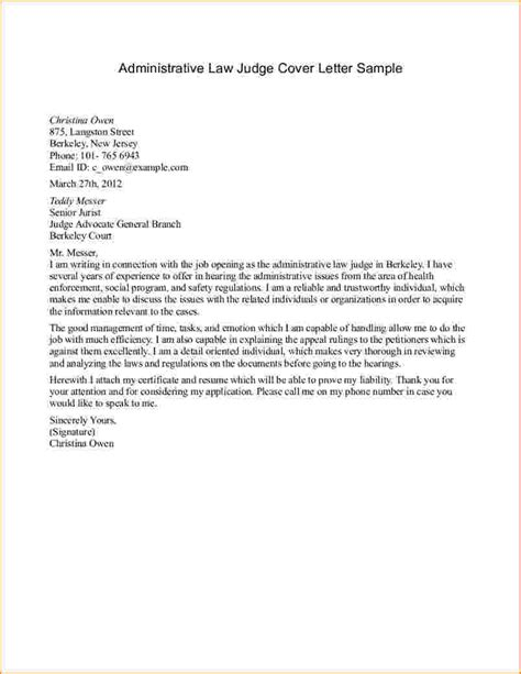 Exle Support Letter To Judge General Resume 187 Format For Writing A Letter To A Judge Cover Letter And Resume Sles
