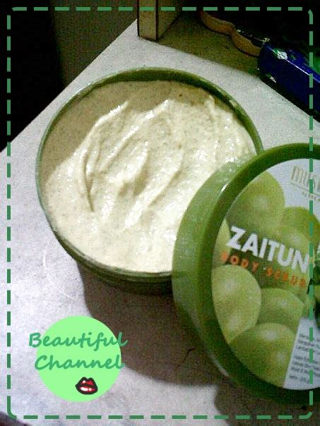 Olive Zaitun Scrub Mustika Ratu beautiful channel review mustika ratu scrub zaitun