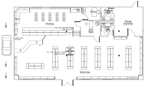 store floor plans wilkins builders modular buildings for pharmacies and