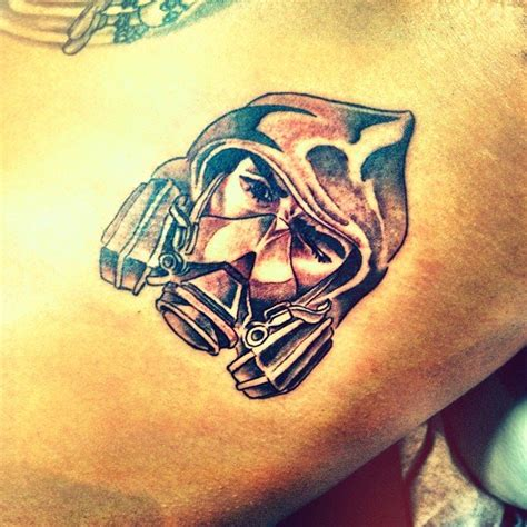 chris brown new tattoo chris brown got new of himself as quot the bandit quot near