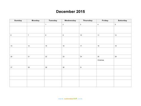 printable dec 2015 calendar pdf december 2015 calendar blank printable calendar template