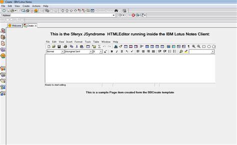lotus notes tutorial pdf ibm lotus notes html editor and sferyx jsyndrome applet