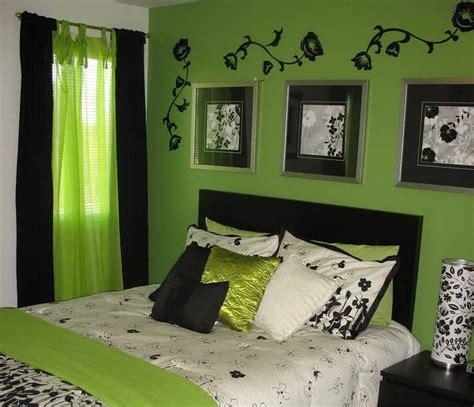 lime green bedroom curtains neon green and black bedroom