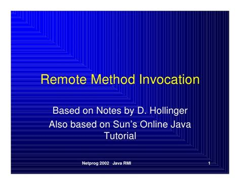 java tutorial kvr notes remote method invocation