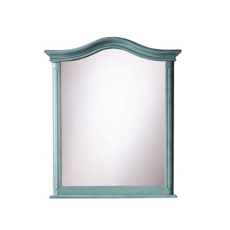 home decorators mirror home decorators collection provence 28 1 2 in w x 33 in l wall mirror in blue 1112900310 the