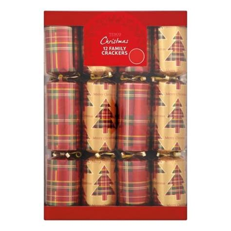 buy tesco tartan crackers 12 pack from our all christmas