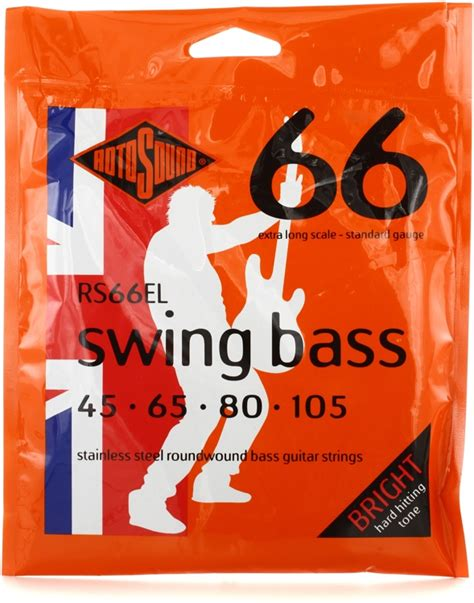 rotosound swing bass 66 rotosound rs66el swing bass 66 stainless steel roundwound