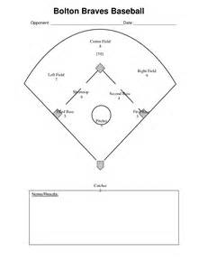 5 best images of printable baseball field position chart
