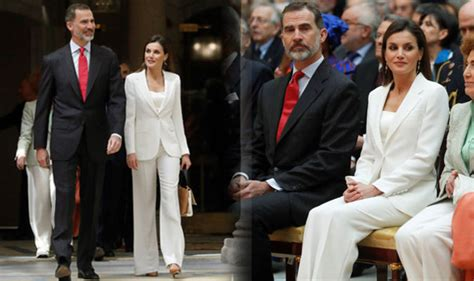 queen letizia is chic in white as she welcomes panamas queen letizia is chic in white as she welcomes panamas
