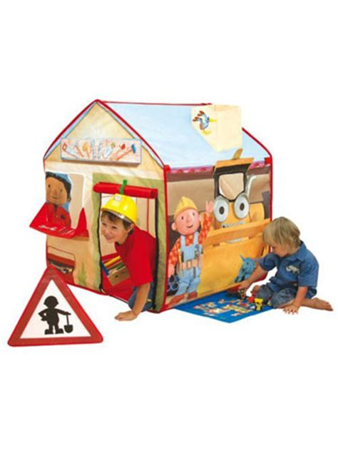 playing with pop ups the bob the builder play tent