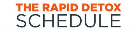 Rapid Detox Opiates by The Rapid Detox Schedule Infographic